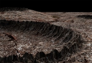 Frozen methane ice mixes with soil on the surface of Pluto