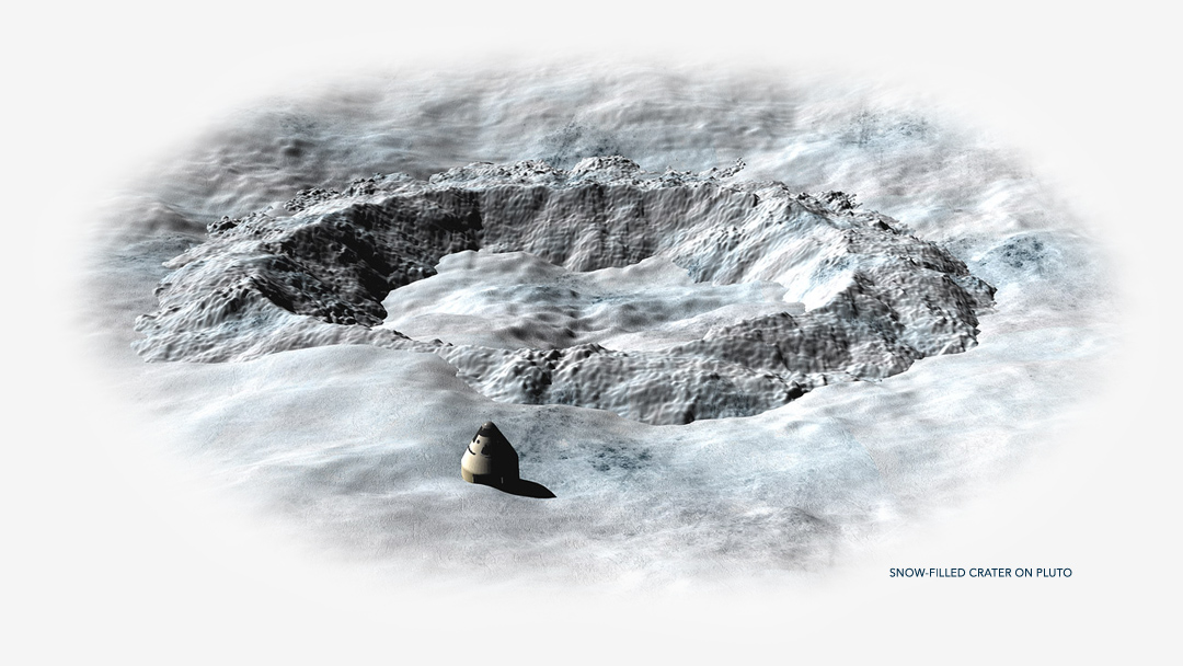 Snow-filled Crater on Pluto